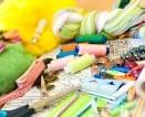 Priemonės, reikalingos mezgimui, siuvimui