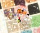 Karoliukai, swarovskio stikliukai ir natūralūs akmenukai