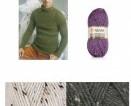 Subtiliai margi Tweed siūlai